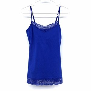 Express Blue Lace Bra Cami Tank Top